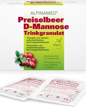 Alpinamed Preiselbeer D-Mannose Trinkgranulat 20 Btl à 5g