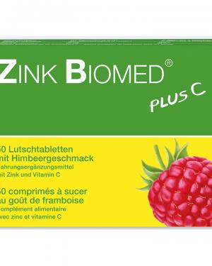 Zink Biomed plus C Lutschtabletten Himbeer 50 Stk