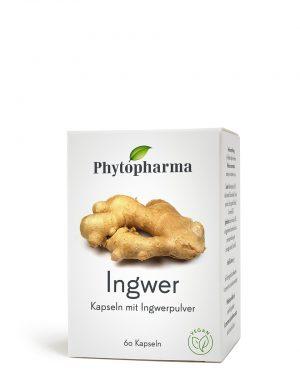 Phytopharma Ingwer Kaps 365mg 60 Stk