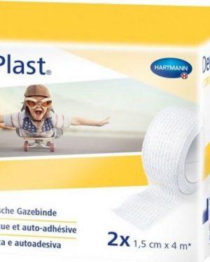 Dermaplast Cofix Gazebinde 1.5cmx4m weiss 2 Stk