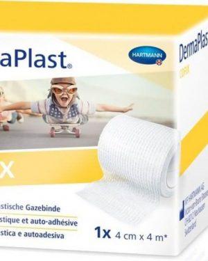 Dermaplast Cofix Gazebinde 4cmx4m weiss
