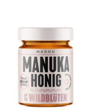 MADHU HONEY Manuka Honig & Wildblüten Glas 250 g